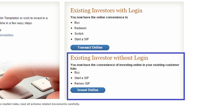 Franklin Templeton Mutual Fund - Online Purchase
